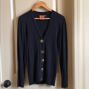 Navy Tory Burch Cardigan